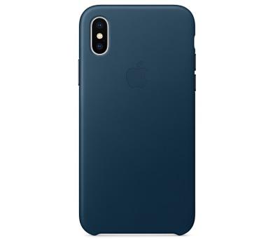 Apple Leather Case pro iPhone X - vesmírně modrý + DOPRAVA ZDARMA