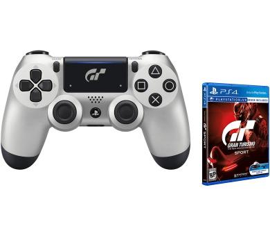 Sony Dual Shock 4 pro PS4 v2 - Gran Turismo Sport edice + hra Gran Turismo Sport