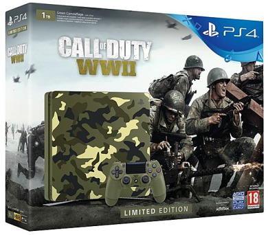 Sony PlayStation 4 SLIM 1TB + Call of Duty WW II + That's You - kamufláž
