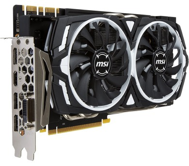 MSI GeForce GTX 1070 Ti ARMOR 8G / PCI-E / 8GB GDDR5 / DVI-D / 3x DP / HDMI / active