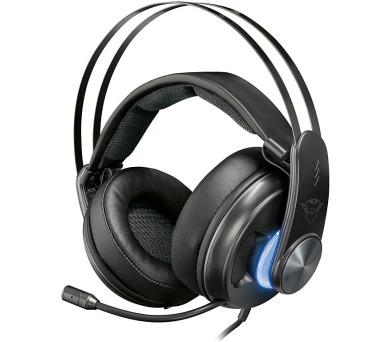 Trust GXT 383 Dion headset / herní / náhlavní / drátový / 7.1 / 50mm měniče / vibrace / SPDIF / USB / 3,5mm (22055)