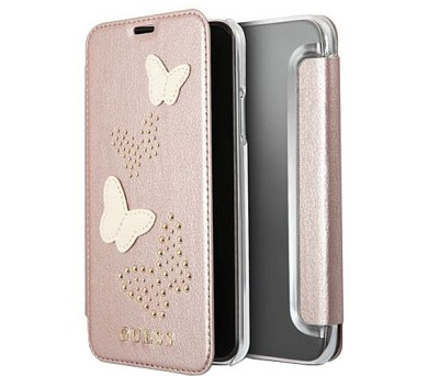 Guess Studs and Sparkle Book Rose Gold iPhone X