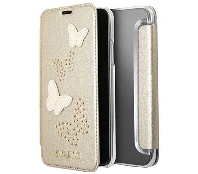 Guess Studs and Sparkle Book Beige pro iPhone X