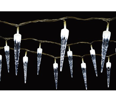 Vánoční osvětlení - Světelný řetěz (rampouchy) se 100 LED diodami