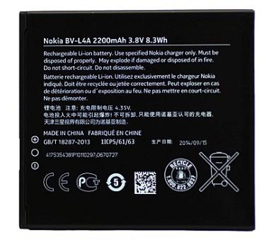 Nokia baterie BV-L4A 2200mAh Li-Ion (Bulk) + DOPRAVA ZDARMA