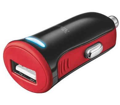 TRUST 5W Car Charger - red