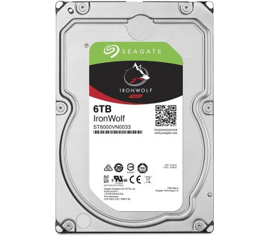 "Seagate IronWolf 6TB HDD / ST6000VN0033 / Interní 3,5"" / 7200 rpm / SATA 6Gb/s /256 MB"