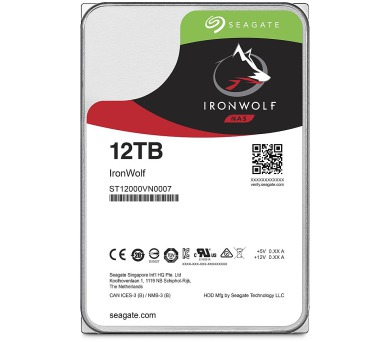 "Seagate IronWolf 12TB HDD / ST12000VN0007 / Interní 3,5"" / 7200 rpm / SATA 6Gb/s / 256 MB"