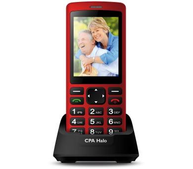 Mobilní telefon senior CPA HALO PLUS červený