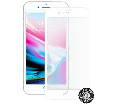 Screenshield APPLE iPhone 8 Plus Tempered Glass Protection (full COVER white) (APP-TG3DWIPH8P-D)
