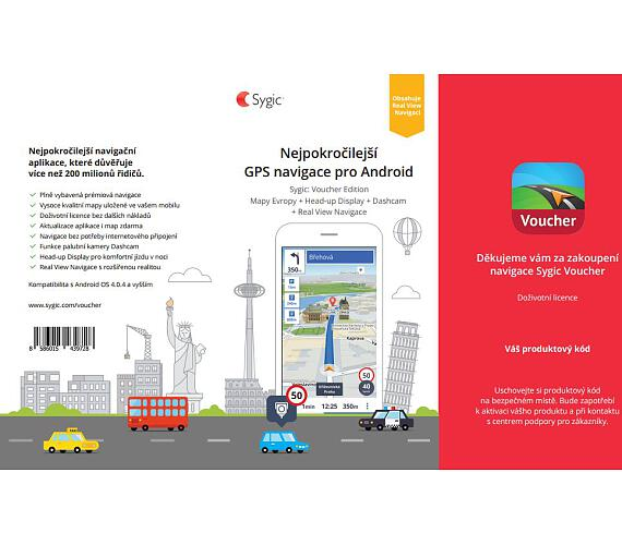 Sygic Voucher - Europe - Premium and Real View Navigation - Lifetime - retail + DOPRAVA ZDARMA