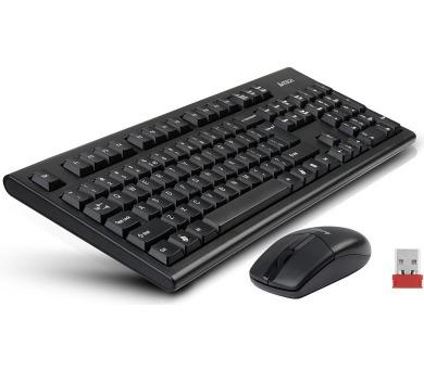 A4tech 3100N set bezdr. kláv. + bezdr. V-Track optická myš,CZ/US