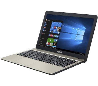 "ASUS X541NA-GO120T Celeron N3350/4GB/500GB/Graphics Share/15,6"" HD lesklý/BT/W10 Home/Black/Gold + DOPRAVA ZDARMA"