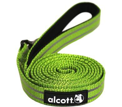 Alcott reflexní vodítko pro psy zelené