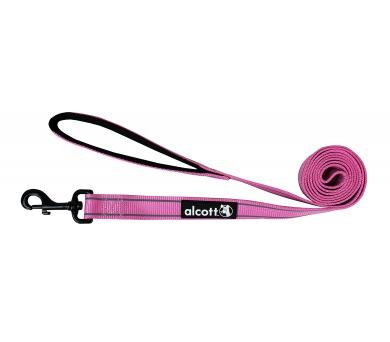 Alcott reflexní vodítko pro psy růžové
