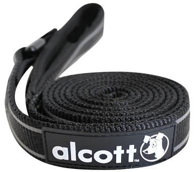 Alcott reflexní vodítko pro psy černé