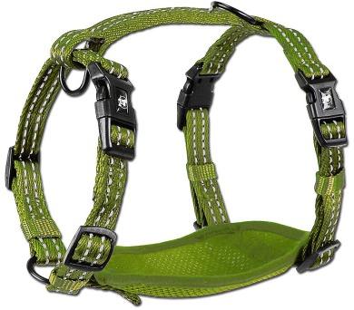 Alcott reflexní postroj pro psy zelený