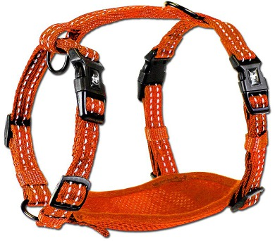 Alcott reflexní postroj pro psy oranžový