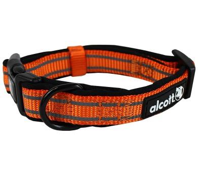 Alcott reflexní obojek pro psy oranžový