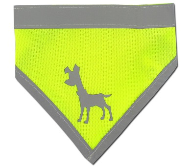 Alcott reflexní šátek pro psy žlutý