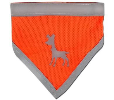 Alcott reflexní šátek pro psy oranžový