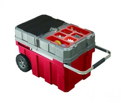Keter kufr na nářadí s kolečky červený 61,6x37,8x41,5cm + DOPRAVA ZDARMA