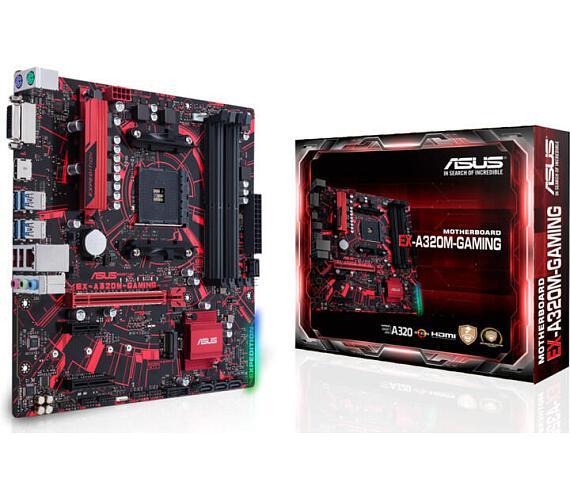 Asus EX-A320M-GAMING / AMD A320 / AM4 / 4xDDR4(max. 64GB) / mATX