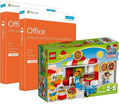 Office 2016 pro domácnosti a podnikatele CZ 2 ks + LEGO DUPLO Pizzerie + DOPRAVA ZDARMA