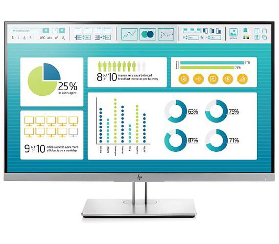 HP EliteDisplay E273 / 27'' IPS 1920x1080 / 250cd / 1000:1 / 5ms / VGA