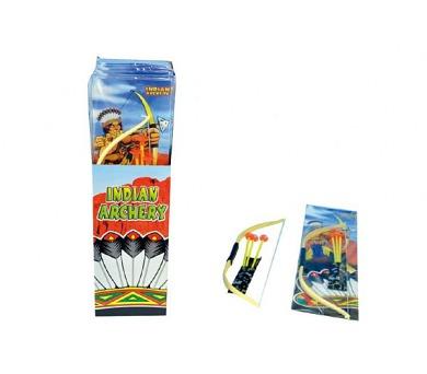 Luk indiánský + šípy s přísavkami plast 50cm v sáčku 12ks v boxu