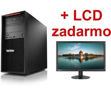 TS P320 TWR/E3-1225v6/8G/1TB/INT/DVD/W10P+LCD + DOPRAVA ZDARMA