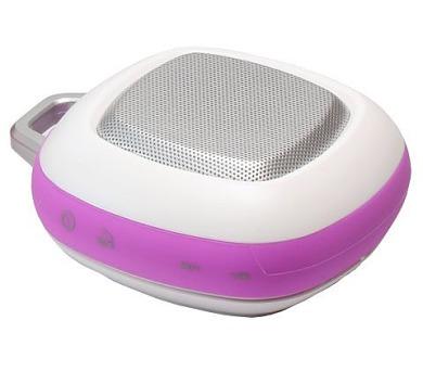 UMAX reproduktor FlyMusic FY-29BT White/ FM/ Handsfree/ AUX vstup/ 3W/ Bluetooth 3.0/ micro SD/ micro USB/ bílo-fialový