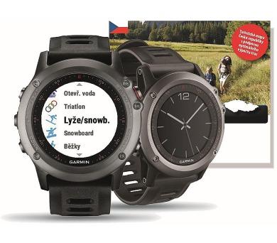 GARMIN GPS chytré hodinky fenix3 Silver Optic + plánovací SW s mapou ČR + DOPRAVA ZDARMA