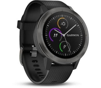 GARMIN GPS multisportovní hodinky vívoActive3 Optic Grey PVD (010-01769-12)