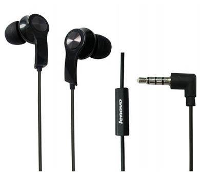 Lenovo in-ear sluchátka P165 černé