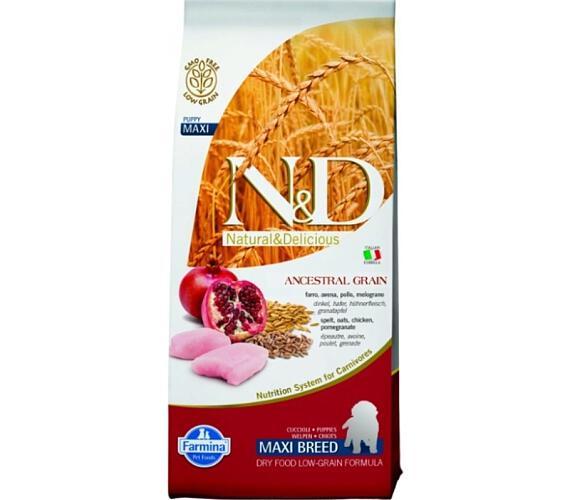 N&D Low Grain Dog Puppy Maxi Chicken & Pom. 12 kg