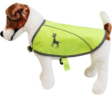 Alcott reflexní vesta pro psy žlutá