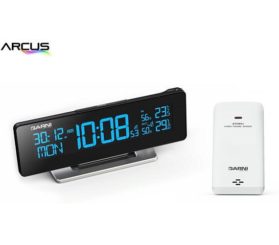 Digitální budík s teploměrem a vlhkoměrem GARNI 185 Arcus Garni technology + DOPRAVA ZDARMA