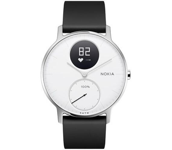 Nokia Steel HR 36mm - černá/bílá (HWA03-36white-All-Inter)