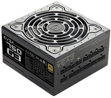 EVGA zdroj SuperNOVA 750 G3 / 750W / modulární kabeláž / 80 Plus GOLD (220-G3-0750-X2) + DOPRAVA ZDARMA