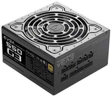 EVGA zdroj SuperNOVA 550 G3 550W / modulární kabeláž / 80 Plus Gold (220-G3-0550-Y2)