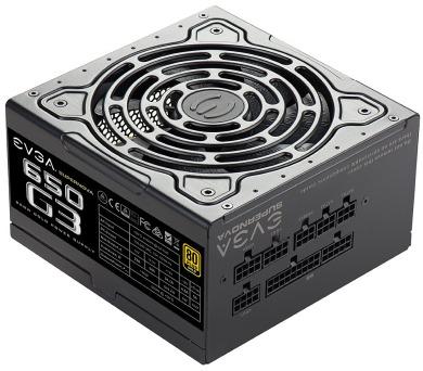 EVGA zdroj SuperNOVA 650 G3 650W / modulární kabeláž / 80 Plus gold (220-G3-0650-Y2)