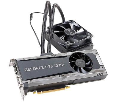 EVGA GeForce GTX 1070 Ti SC Hybrid Gaming / 8GB GDDR5 / 3x DP / HDMI / DVI-D
