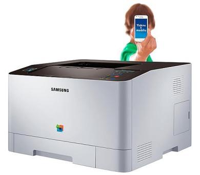 HP - Samsung SL-C1810W,A4,18/18ppm,9600x600dpi,PCL6+PS3,256MB,USB,ethernet+wifi (SS204C#EEE) + DOPRA