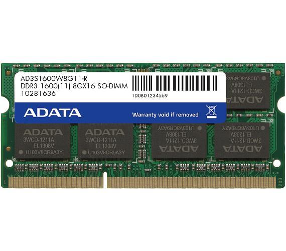SO-DIMM 8GB DDR3 1600MHz CL11 ADATA (AD3S1600W8G11-R)