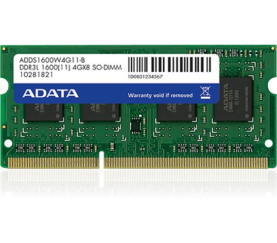 SO-DIMM 4GB DDR3L-1600MHz ADATA CL11 1,35V (ADDS1600W4G11-R)