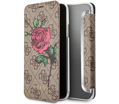 Guess 4G Flower Desire Book Brown pro iPhone X