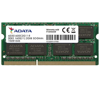 SO-DIMM 4GB DDR3 1600MHz CL11 ADATA SRx16 (AD3S1600W4G11-R)