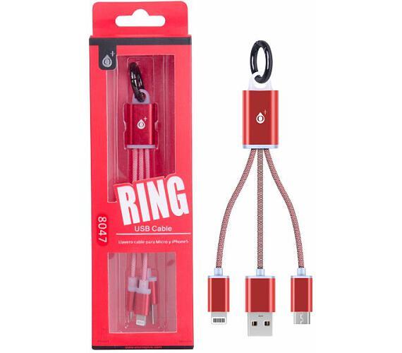 Nabíjecí kabel PLUS 2v1 Micro USB + iPhone Lightning