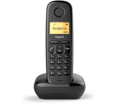SIEMENS Gigaset A170-BLACK - DECT/GAP bezdrátový telefon + DOPRAVA ZDARMA